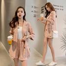 超殺29折 韓國風西裝格紋休閒外套短褲套裝短袖褲裝