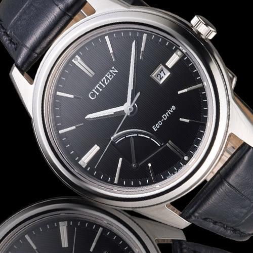 CITIZEN Eco-Drive 能量顯示紳士腕錶 AW7000-07E 黑