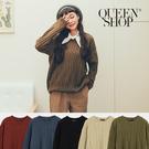 Queen Shop【01070938】素色麻花造型毛衣 五色售*現+預*