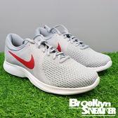 Nike Revolution 4 灰 紅 透氣 慢跑鞋 男 (布魯克林) 2018/1月 908988-006