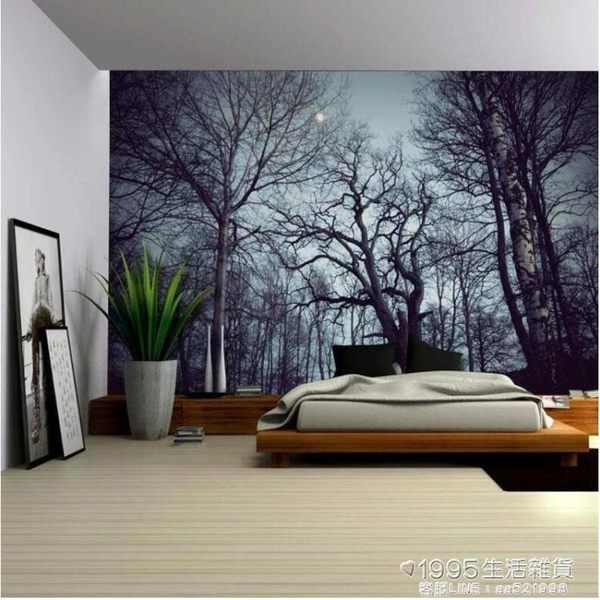 掛布 北歐森林掛毯ins風掛布背景布畫布牆布家具裝飾壁掛客廳臥室風景【1995新品】