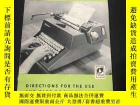 二手書博民逛書店DIRECTIONS罕見FOR THE USE AND CARE