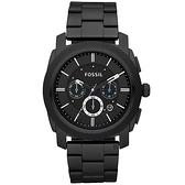 FOSSIL 領航者三眼計時手錶-IP黑 FS4552IE