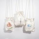 帆布小包包女新款百搭韓版爆款簡約小清新森系手機小包斜背包