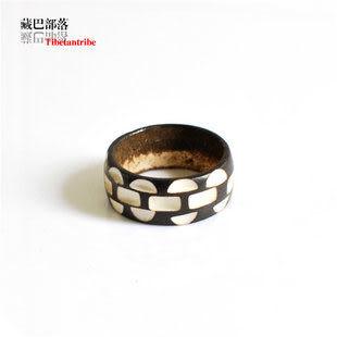 情侶戒指 藏飾風格刻花犛牛骨