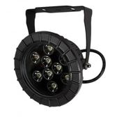LED 9珠圓形投射燈(暖白光)