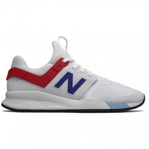 New Balance 247 男鞋 女鞋 休閒 網布 輕量 REVLITE 白 藍 紅【運動世界】MS247FO