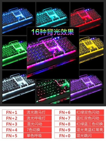 新盟曼巴狂蛇真機械手感鍵盤背光筆記本臺式電腦USB外接游戲吃雞金屬有線鍵盤網紅