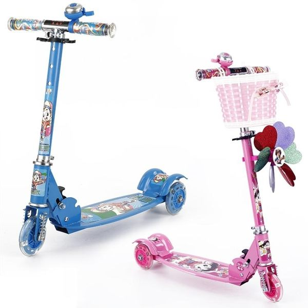 滑板車兒童2-3-6歲4小孩寶寶男女單腳踏板滑滑車三四閃光輪溜溜車