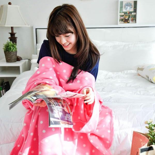 輕柔保暖 懶人袖毯-【繽紛紅點】 時尚懶人袖毯 ◆台灣精製◆ HOUXURY寢具生活網