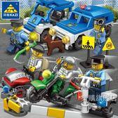 組裝積木積木兼容樂高城市警察系列人仔警車男孩5益智3拼裝小人4周歲6