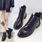 小短靴秋冬女百搭韓版學生粗跟馬丁靴女英倫風高跟靴子 奇思妙想屋