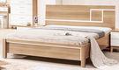 【森可家居】金詩涵5尺床台 7ZX136-4 雙人床架 床框 木紋質感 無印風 北歐風
