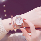 流行女錶 手錶女 年新款學生韓版簡約潮流可愛櫻花粉少女閨蜜 中秋降價