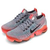 Nike 慢跑鞋 Wmns Air VaporMax Flyknit 3 灰 橘 大氣墊 運動鞋 女鞋【PUMP306】 AJ6910-601