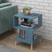 北歐簡約現代小茶幾客廳創意方形小餐桌經濟型沙發桌E1級板材茶臺【週年慶免運八五折】