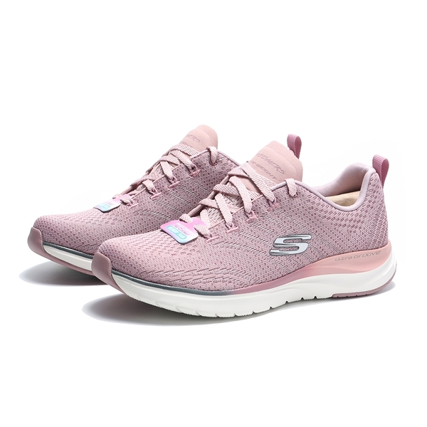 SKECHERS 休閒鞋 UITRA GROOVE 粉白 銀LOGO 運動鞋 女 (布魯克林) 149022MVE