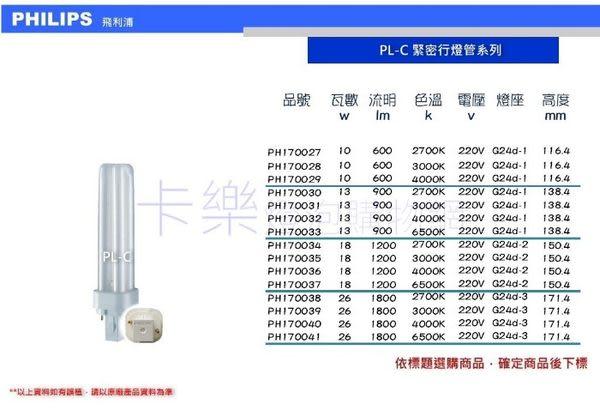PHILIPS飛利浦 PL-C 26W 840 4000K 冷白光 2P 緊密型燈管_PH170040