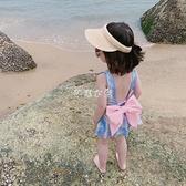 兒童泳衣 兒童泳衣女亮晶面料可愛韓國女童美人魚泳衣溫泉蝴蝶結 全館免運
