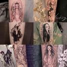 西街Girl 紋身貼防水 男女持久暗黑系花臂日式浮世繪藝妓套餐30張 快速出貨