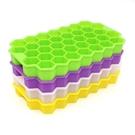 [拉拉百貨]37格蜂巢冰格 矽膠蜂窩製冰格 無蓋冰格蜂窩 DIY矽膠冰格 隨機出貨