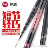 光威游龍火狐鯉4.5.4/7.2米碳素超硬短節釣魚手桿溪流竿套裝漁具HM范思蓮恩