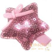 Cutie Bella亮片星星全包布手工髮夾-Star Sequin-Pinky
