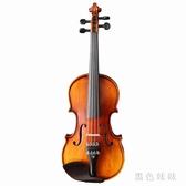 手工實木小提琴虎紋初學者兒童成人入門考級演奏樂器 aj6294『黑色妹妹』