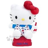 〔小禮堂〕Hello Kitty 絨毛玩偶娃娃《M.藍紅.牛奶瓶》擺飾.玩具 4901610-44800