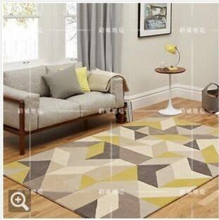 160×230時尚簡約宜家圖案客廳茶幾沙發地毯臥室床邊毯熱賣格子地毯(圖案六)