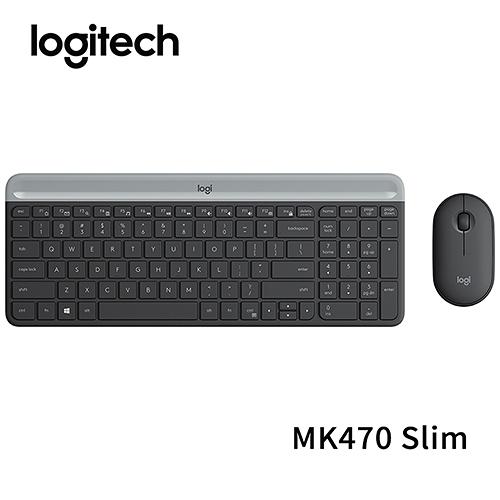 Logitech 羅技 MK470 Slim 無線鍵盤滑鼠組 石墨灰