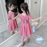 兒童洋裝 女童網紅洋裝夏裝2019夏季新款兒童超洋氣女孩裙子童裝公主裙潮 2色