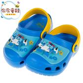 《布布童鞋》POLI救援小英雄波力立體變形警車藍色電燈兒童布希鞋(15~20公分) [ B0A036B ]