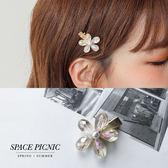 髮夾Space Picnic |透明珍珠單朵髮夾現預~C19054013 ~