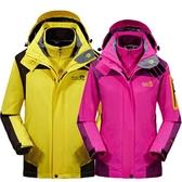 衝鋒衣 衝鋒衣男女三合一可拆卸兩件套秋冬季加絨加厚登山服 1995生活雜貨