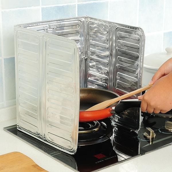 泰博思 鋁箔擋油板 鋁箔板 防汙板 灶臺擋板 可折疊 廚房 防油【F0329】