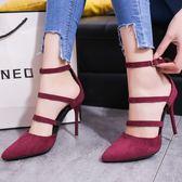 涼鞋 新款女夏季時尚韓版高跟細跟尖頭性感外穿女鞋 DN7074【VIKI菈菈】