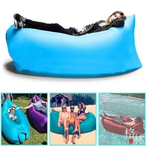 戶外便攜式氣墊沙發懶人充氣床空氣床墊單人睡袋午休床快速充氣床【格林世家】