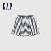 Gap女童 甜美印花棉質舒適短裙 679939-海軍藍條紋