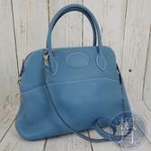 BRAND楓月 HERMES 愛馬仕 T刻 天空藍色 牛皮 BOLIDE 31 手袋 手提包 側背包 肩背包