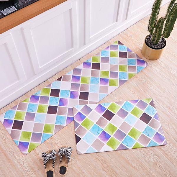 時尚創意地墊268 廚房浴室衛生間臥室床邊門廳 吸水長條防滑地毯(45*120cm)
