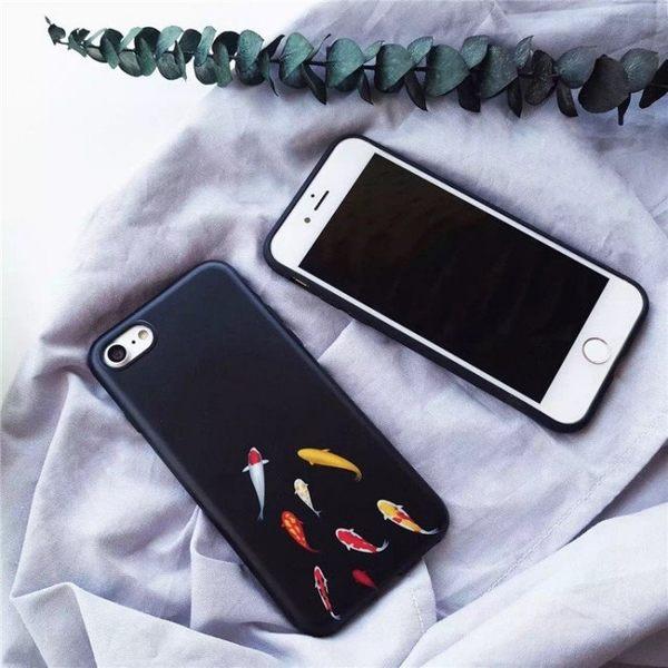 iPhone手機殼 新年魚兒力爭上游 IMD不掉色 磨砂軟殼 蘋果iPhone7/iPhone6 手機殼