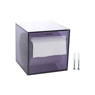 【a-liFe】懸掛式壓克力捲筒紙巾盒-紫  (現貨)