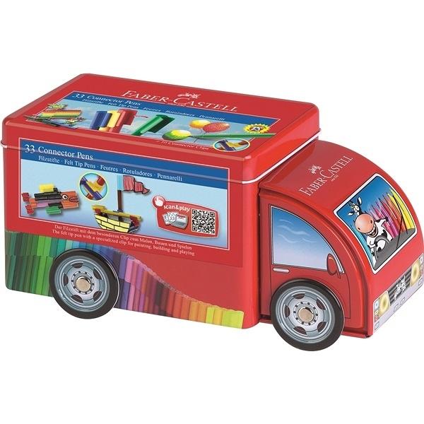 【德國 FABER-CASTELL】紅色無毒系列 - 卡車33色造型連接筆