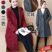 菱紋連帽排釦棉襖外套(3色)L~5XL【999742W】【現+預】☆流行前線☆