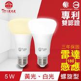【TOYAMA特亞馬】LED雷達感應燈5W E27螺旋型
