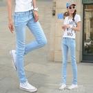勛2020夏季韓版淺色九分牛仔褲女高腰薄款顯瘦緊身彈力小腳鉛筆長 依凡卡時尚