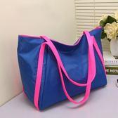 側背包 媽媽包大包包 新品潮時尚女包包旅行包手提購物袋尼龍布包肩背包推薦