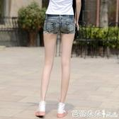 新款牛仔短褲女夏mm韓版低腰超顯瘦彈力學生超短褲熱褲薄款潮