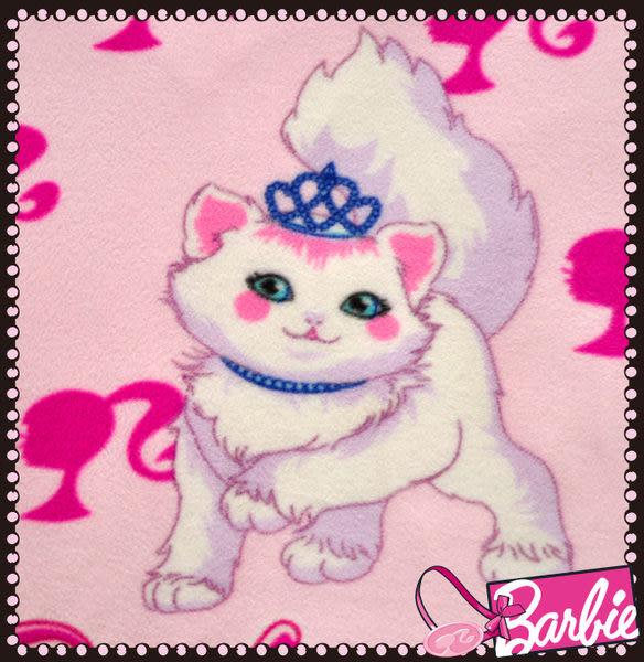 【Barbie】波斯公主貓-雪芙絨加大雙人床包三件組《Persian Princess《嫩兔粉》》